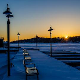 Frozen Marina by Al Koop - City,  Street & Park  City Parks ( sunset, lake hopatcong,  )