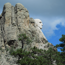 Mount Rushmore...Just George by Dawn Schriebl Hartley - Landscapes Travel (  )