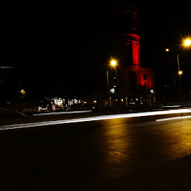 In the Night by Aniket Autkar - Abstract Light Painting ( street, light trails, night, road, slow shutter )