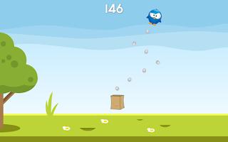 Screenshot of EggDrop FREE one finger arcade