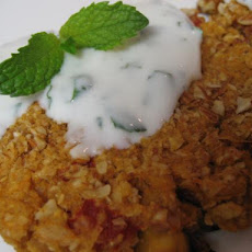 Curried Chickpea Croquettes With Yogurt Sauce