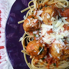 Linguine with Italian Turkey Meatballs