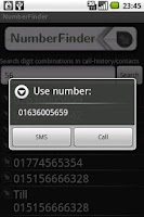Screenshot of NumberFinder