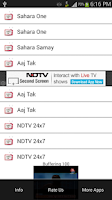 Screenshot of Indian Channels