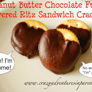 Peanut Butter Chocolate Fudge Covered Ritz Sandwich Crackers