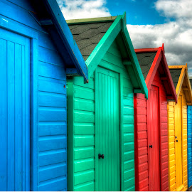 hut after hut by Kevin Towler - Buildings & Architecture Other Exteriors ( seafront, north yorkshire, beaches, uk, hdr, hut, buildings, beach, coast )