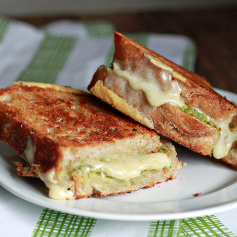 Artichoke Arugula Pesto Grilled Cheese