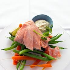 Poached Salmon with Curried Yogurt Sauce