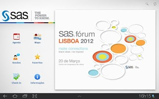 Screenshot of SAS Forum Portugal 2012