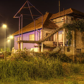 A Lot Going On by Bojan Bilas - Buildings & Architecture Homes ( hone, croatia, night, zagreb, city,  )