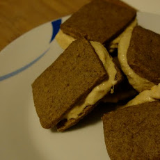 Espresso Shortbread and Burnt Orange Spice Ice Cream Sandwiches