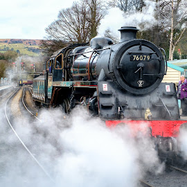 76079 by Martin Tyson - Transportation Trains ( north yorkshire moors, track, north, historic, heritage, grosmont, railway, yorkshire, transport, moors, train, nymr, 76079, steam )