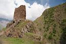 Castle Remains In Kazbegi
