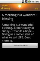 Screenshot of Good Morning SMS