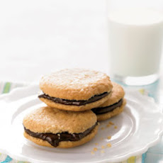Chocolate Peanut-Butter Sandwich Cookies