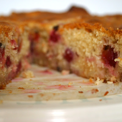 Purple Gooseberry, Lemon And Rhubarb Cake