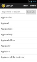 Screenshot of English German Dictionary
