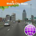 Mobile. Alabama, Street Map icon