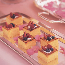 Pound Cake Squares with Berries