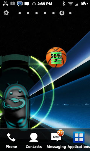 Basketball Battery Widget