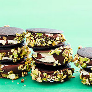 Choco-Pistachio Ice Cream Sandwiches