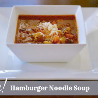 Easy Hamburger Noodle Soup