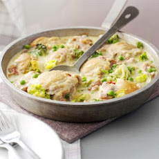 French-style Chicken With Peas & Bacon