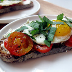 Egg, Tomato & Goat Cheese Breakfast Tartine