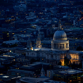 London St Paul at night by Federico Domenici - Buildings & Architecture Places of Worship ( skyline, london, nightshot, stpaul )