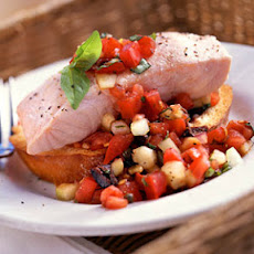 Chilled Poached Salmon with Panzanella
