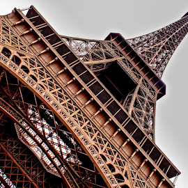 Eiffel Tower  by Cameron Knudsen - Buildings & Architecture Statues & Monuments ( eiffel tower,  )