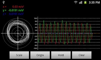 Screenshot of Max Vibrometer