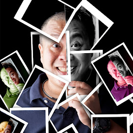 Split personality by Bernard Sim - People Portraits of Men ( Selfie, self shot, portrait, self portrait )