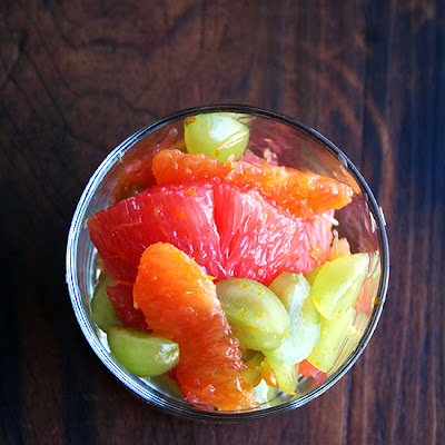 Orange, Grapefruit & Green Grape Compote