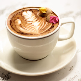 Coffee by Serene Xin - Food & Drink Alcohol & Drinks ( coffee, cafe, western, delicious, drinks, biscuits )