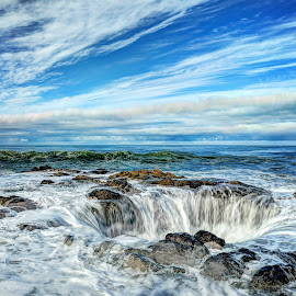 Thor's Well by Dana Walker - Landscapes Waterscapes ( oregon, cape perpetua, pacific ocean, seascape, high tide, thor's well )