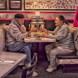 The Diner by Alan Roseman - People Street & Candids ( decor, dinner, joint, 50's, pawtucket, breakfast, plouffe, greasy spoon )