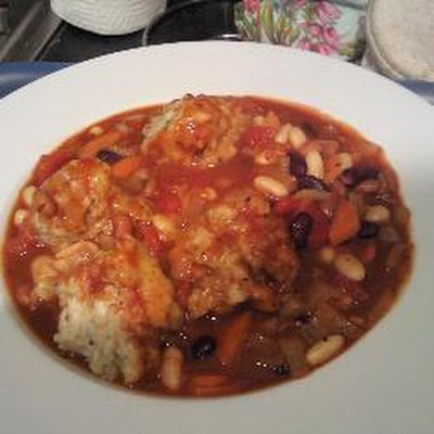 Chilli Bean Casserole with Herby Dumplings