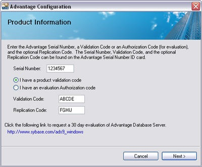Advantage Database Server x64 9.0