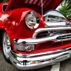 Sexy Red by RomanDA Photography - Transportation Automobiles ( red, chrome, auto, classic,  )