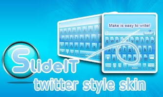 Screenshot of SlideIT Twitter style Skin