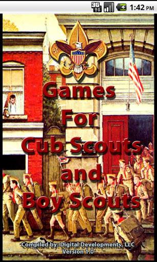Cub Scout Boy Scout Games