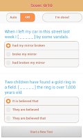 Screenshot of 1800 Grammar Tests (Free)