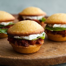 Mini Tomato and Goat Cheese Burgers