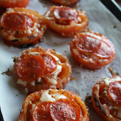 Grilled Tomatoes with Pepperoni