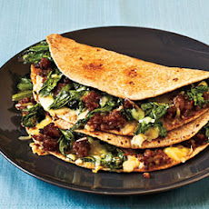 Escarole, Sausage, and Fontina Quesadillas