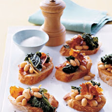 Kale, White Bean, and Prosciutto Crostini
