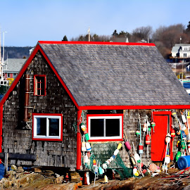 The Nubble by Donnie Freeman - Buildings & Architecture Homes ( water, fish house, mackerel cove, maine, bailey island )