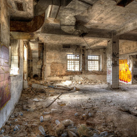 The Haunted Sanitarium by Bill Peppas - Buildings & Architecture Decaying & Abandoned ( hdr, wreck, bricks, ruins, sanitarium, abandoned )