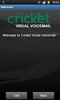 Screenshot of Cricket Visual Voicemail